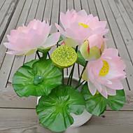 1 Afdeling Plastik Lotus Bordblomst Kunstige blomster