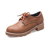 Damer Oxfords Komfort Lysende såler Bullock sko Mikrofiber Forår Sommer Efterår Vinter Afslappet Formelt Komfort Lysende såler Bullock sko