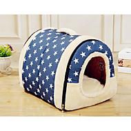 ネコ 犬 ベッド ペット用 バスケット カートゥン ソフト テント コーヒー ブルー ピンク キャメル 虹色