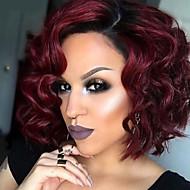 חם 1b / אדום צבע גל שיער סינתטי cosplay נשים פאות
