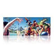 szuper nagy méretű 90cm * 40cm őrült party print játék egérpad mat laptop gaming egérpad