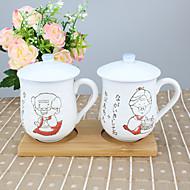 Desenho Artigos para Bebida, 210 ml Dom namorado presente namorada Porcellana chá Café Copos Tampas para Canecas