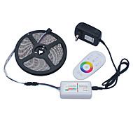 Jiawen 5m 5050SMD RGB LED полоса света 60leds / м Адаптер 2а DC12V силовой трансформатор 2.4G пульт дистанционного управления ВЧ