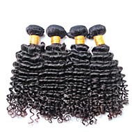 100% umprocessed jomfru menneskehår, ingen kaste og ingen virvaret 3 stykker / lot brazilian dybe bølge hår bølget