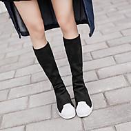 skallet hodet tykk skorpe muffin elastiske leggings betydelige hengslete boots boots martin støvler kvinnelige modeller sko