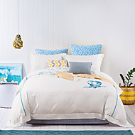 turqua BEATING HEARTS Micro Fab Cotton Embroidered Classic Bedding Set Duvet Cover Comforter Case Pillowcase Flat Fheet