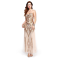 TS Couture Formal Evening Dress - Sparkle & Shine A-line Strapless Ankle-length Sequined with Sequins