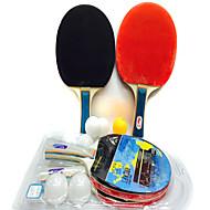 3スター Ping Pang/卓球ラケット Ping Pang/卓球ボール Ping Pang ラバー ショートハンドル にきび 2 ラケット ピンポン球 3 ピンポン球 屋内 性能