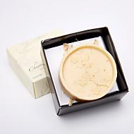 Praktické ODMĚNY koupel a mýdla Květinový motiv Bílá / Čokoládová Stuhy