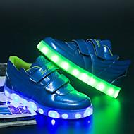 Tenisky-Lakovaná kůže-světelný Shoe Light Up boty-Chlapecké-Černá Červená Modrá-Běžné-Plochá podrážka