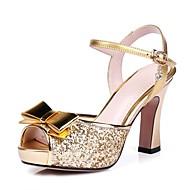 Sapatos de Dança(Roxo Prateado Dourado) -Feminino-Não Personalizável-Latina Moderna