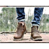 Men's Boots Comfort Rubber Summer Casual Comfort Low Heel Coffee Flat
