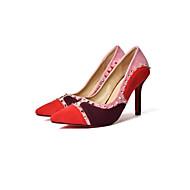 Feminino-Saltos-Conforto Inovador Gladiador Solados com Luzes Sapatos clube Sapatos formais-Salto Baixo Salto Agulha-Preto Vermelho-
