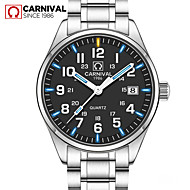 Carnival Male watch waterproof super bright tritium gas blue green luminous Outdoor mens business analg quartz Watches