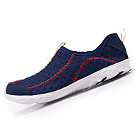 Femme-Extérieure Décontracté Sport-Blanc Noir Bleu de minuit Bleu-Talon Plat-Semelles Légères trou Chaussures-Mocassins et Chaussons+D6148