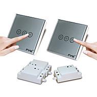 fyw duplo controle de três gangue toque controle remoto mudar sem necessidade de cortar a fiação da parede pode ser colado em qualquer