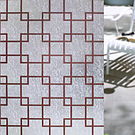 Geométrico Retro Adesivo de Janela,PVC/Vinil Material Decoração de janela