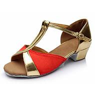 Obyčejné-Dětské-Taneční boty-Latina-Koženka Látka-Kačenka