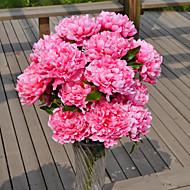 1 Κλαδί Πλαστικό Παιώνιες Λουλούδι για Τραπέζι Ψεύτικα λουλούδια 70*16