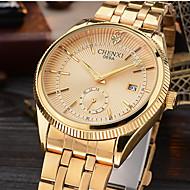 CHENXI Men's Dress Watch Fashion Strap Watch Calendar Simulated Diamond Watch Japanese Quartz Imitation Diamond Alloy BandSparkle Luxury Wrist Watch