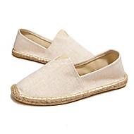 Dame-Lerret-Flat hæl-Komfort-一脚蹬鞋、懒人鞋-Fritid-
