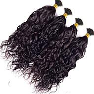 バンドル髪 インディアンヘア ウェーブ 3ヶ月 4個 ヘア織り