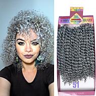 3pieces / pakke 10-tommers jerry krøllete hår hekle kinky vri syntetisk Kanekalon dype krøllete hår style gratis krok gave
