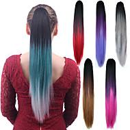 Longa reta mix cor ponytail mulheres sintéticas cosplay partido cabelo extensão