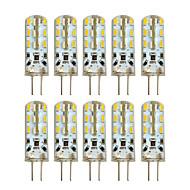 Hkv® 10 sztuk g4 2w 24 smd 3014 100-200 lm ciepła biała chłodna biała dioda LED bi-pin dc 12 v
