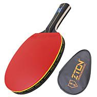 Ping Pang/Tischtennis-Schläger Ping Pang Holz Langer Griff Pickel 1 Schläger 1 TischtennistascheZTON