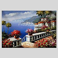 Oil Paintings Modern Landscape Style Canvas Material With Wooden Stretcher Ready To Hang Size 60*90CM and 50*70CM .