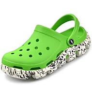 メンズ サンダル 穴の靴 カップルの靴 シリコン 春 カジュアル ブラック レッド グリーン フラット