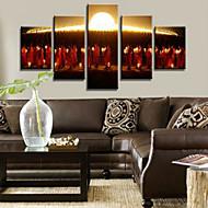 Reprodukce umění Prázdninový Moderní,Pět panelů Horizontálně Tisk Art Wall Decor For Home dekorace