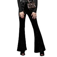 Damen Retro Street Schick Punk & Gothic Mittlere Hüfthöhe Mikro-elastisch Chinos Lose Bootcut Hose einfarbig