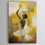 Peint à la main Personnage Verticale,Moderne Un Panneau Toile Peinture à l'huile Hang-peint For Décoration d'intérieur