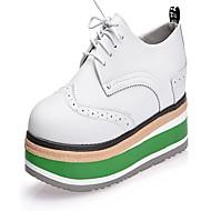 Oxford-kengät-Kiilakorko Creepers-Naiset-Nahka--Puku Rento-Creepers Comfort Bullock kengät