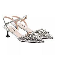 Kvinners hæler sommer slingback pu casual sølv