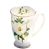 カバー付き陶磁器ミルクコーヒーカップ220ml