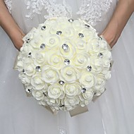 "Wedding Flowers Round Roses Bouquets Wedding Party/ Evening Satin 9.84""(Approx.25cm)"