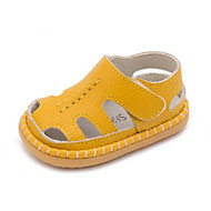 Boys' Loafers & Slip-Ons Spring Summer Moccasin Cowhide Casual Flat Heel Blushing Pink Blue Yellow White
