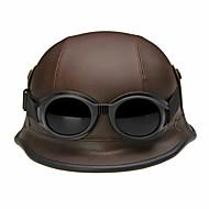 Poloviční helma Přilba s brýle Motocyklové helmy