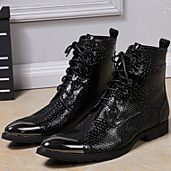 Men's Boots Spring Summer Fall Winter Formal Shoes Nappa Leather Outdoor Office & Career Party & Evening Casual Black