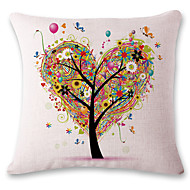 1 pcs Heart-shaped tree printing style linen pillow sets sofa cushions cover