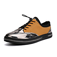 Men's Sneakers Spring Summer Fall Winter Comfort Polyester Fabric Outdoor Athletic Casual Lace-up Orange Black Walking