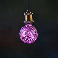 3W E27 Izzószálas LED lámpák G95 33 Integrált LED 300 lm Rózsaszín Dekoratív AC 85-265 V 1 db.