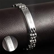 Korean fashion jewelry wholesale leisure smooth titanium bracelet for men Metrosexual Jewelry section GS811