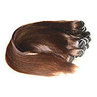 Wholesale 7A Brazilian Straight Virgin Human Hair Weaves 1Kg 20Bundles Lot Medium Brown Color 100% Human Hair Extensions