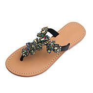 נשים-סנדלים-PU-נעלי מועדון--שמלה יומיומי מסיבה וערב-עקב שטוח