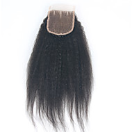 Top Quality Kinky Straight 3.5x4 Lace Closure Brazilian 100% Unprocessed Human Hair Middle Free Three Part 3.5X4 Lace Closure with Baby Hair