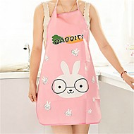 1Pcs   Nice Monther Gift Mommy Love Hot Women Cute Cartoon Waterproof Apron Kitchen Restaurant Cooking Bib Aprons